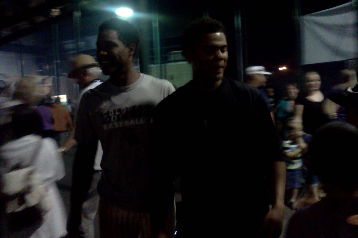 Luis Castro and Hamlet Marte of the Grand Junction Rockies