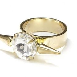 """<b>Fallon<b> Classic Microspike Ring, <a href=""""http://www.fallonjewelry.com/index.php?page=productslist&storeid=64&categoryID=0&subcatID=&subsubcatID=&prodid=3323&sess=store64"""">$100</a>"""