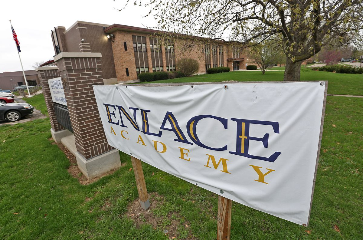 Enlace Academy is a charter school, where 55 percent of students are English language learners.