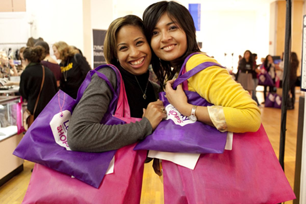 Shoppers at last year's event