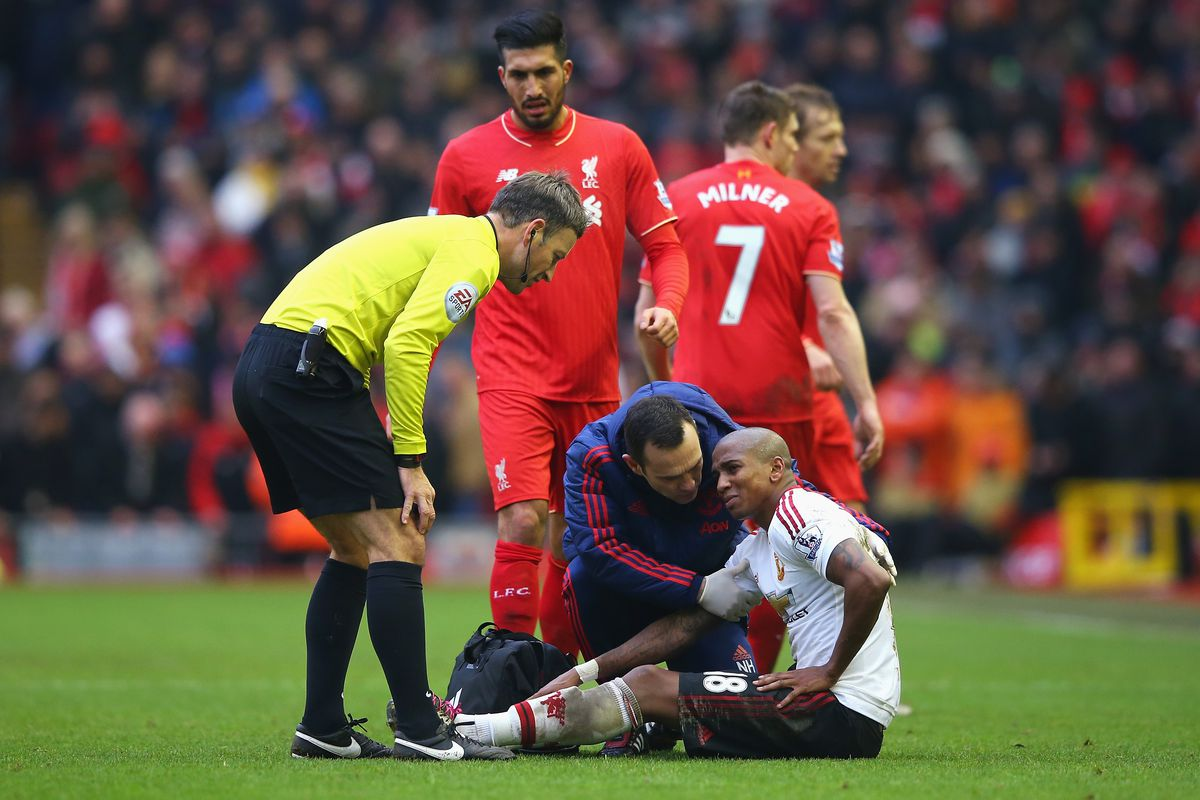 Ashley Young looks like he'll be out for a long time.