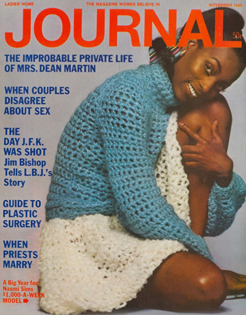 Naomi Sims on the cover of Ladies' Home Journal.