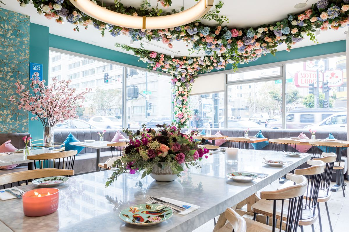 Floral dining room at Son & Garden