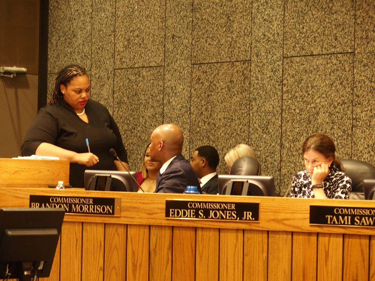 From left, county commissioners Tami Sawyer, Van Turner, and Brandon Morrison.