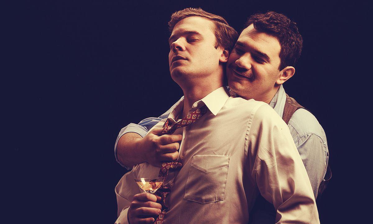 "Curtis Edward Jackson (left) and Rudy Galvan in Raven Theatre's world premiere of ""The Gentleman Caller."""