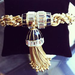 """I pair this bracelet with the tassel necklace, but you don't have to. It's all about mixing and matching everything."""" Tassel Collection bracelet, $325"""