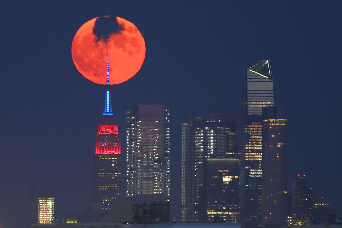 The Full Buck Moon Rises in New York City