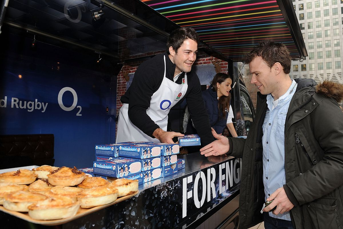 These are pies. In England. So what? It's Pi Day! (Photo by Christopher Lee/Getty Images for O2)