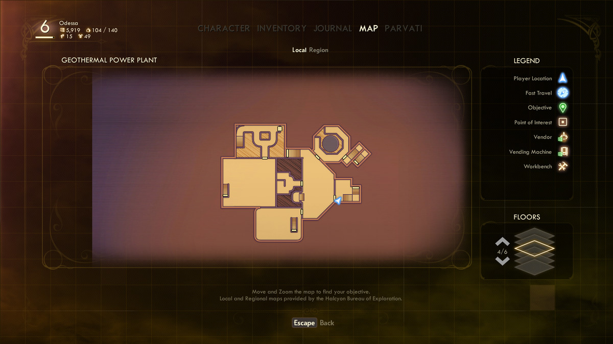 A map of the geothermal plant in Outer Wilds' Edgewater planet
