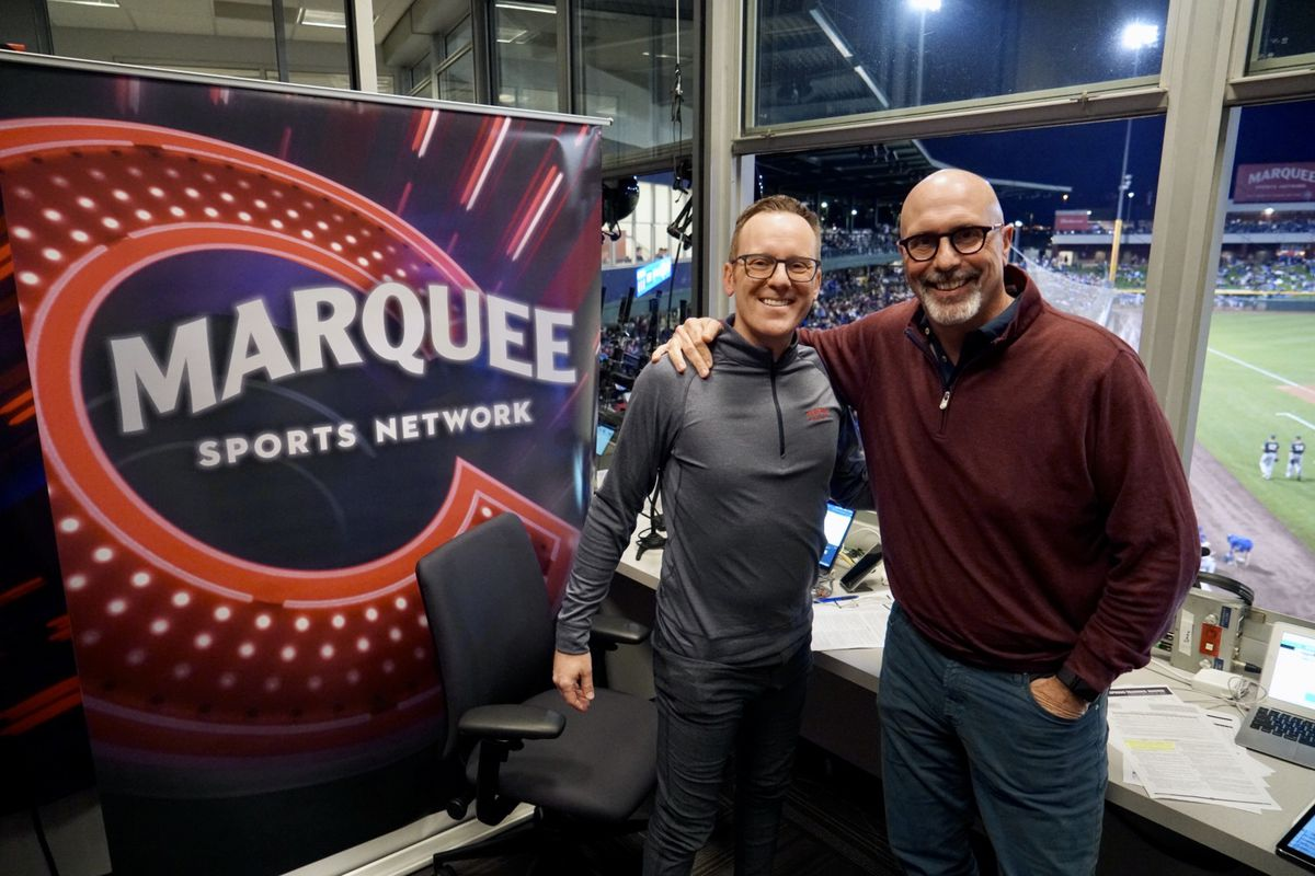 """Len Kasper (left) and Jim Deshaies worked the Cubs' TV booth together for eight years. With Kasper now in the White Sox' radio booth, Jon Sciambi will step in. """"Cubs fans are so lucky,"""" Kasper said. """"He and JD are gonna be so great. It's gonna be instant."""""""