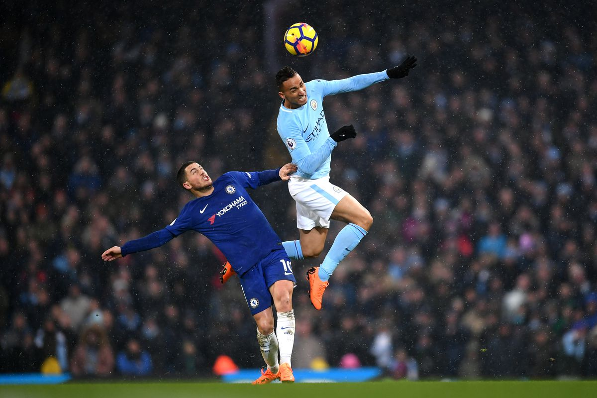 Image result for manchester city 1-0 chelsea march 2018 hazard