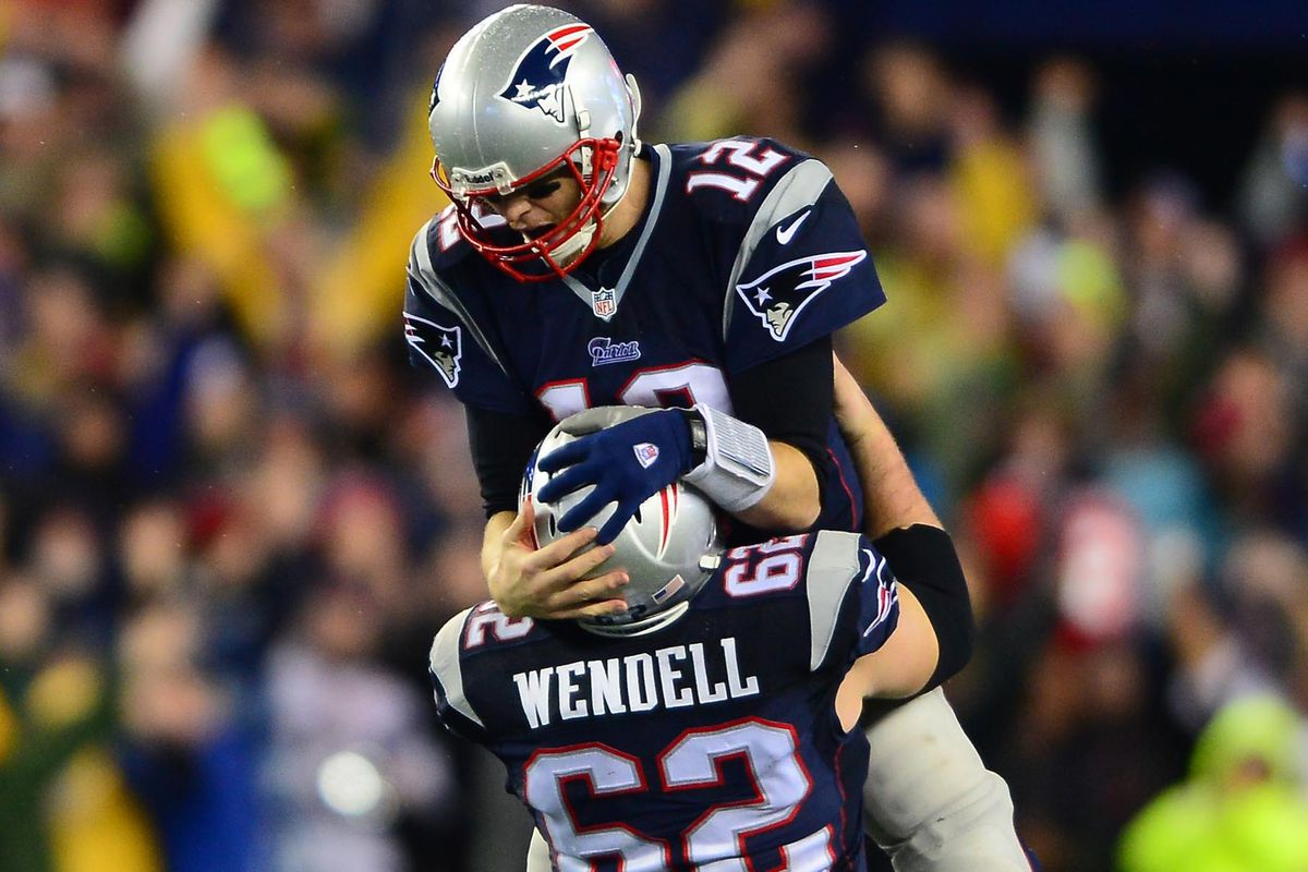 Brady gets all kinds of support from his O-line