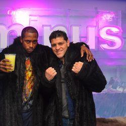 UFC fighter Nick Diaz at Minus5 Ice Bar.