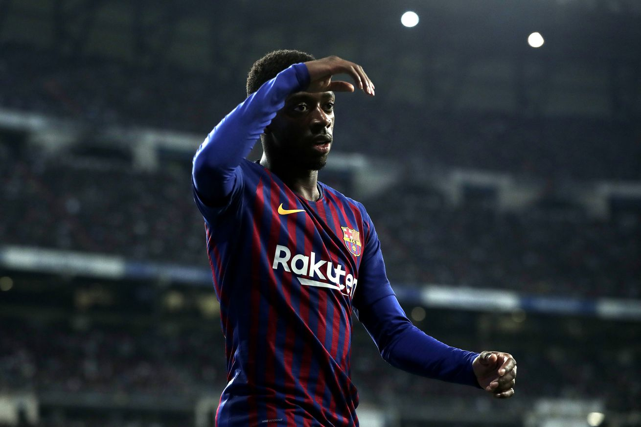 Injured Dembele out for 3-4 weeks