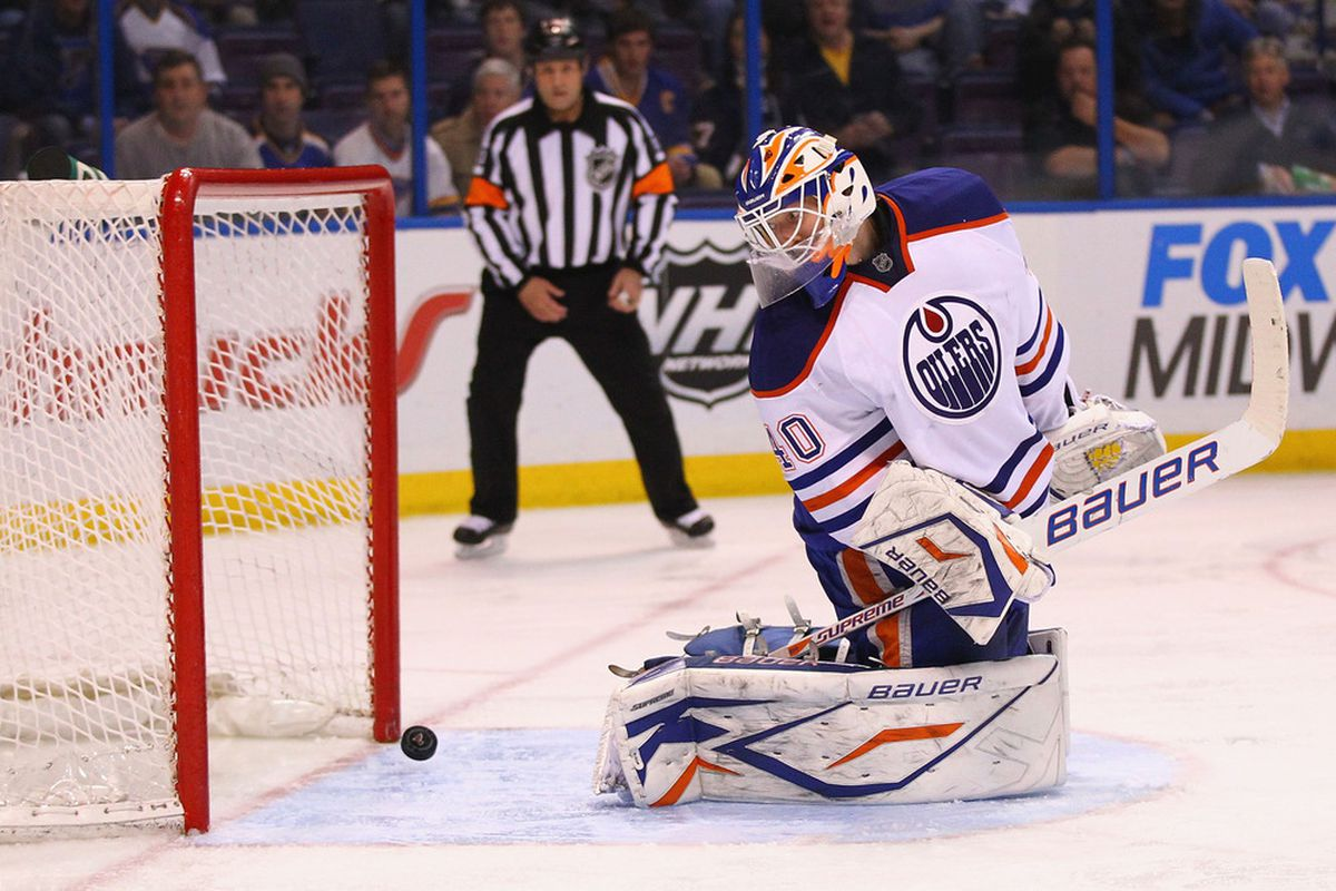 If Devan Dubnyk learns to stop pucks with the power of his mind, the Oilers may yet make the playoffs.