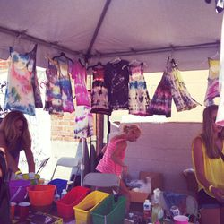 Every party should have a tie-dye DIY station
