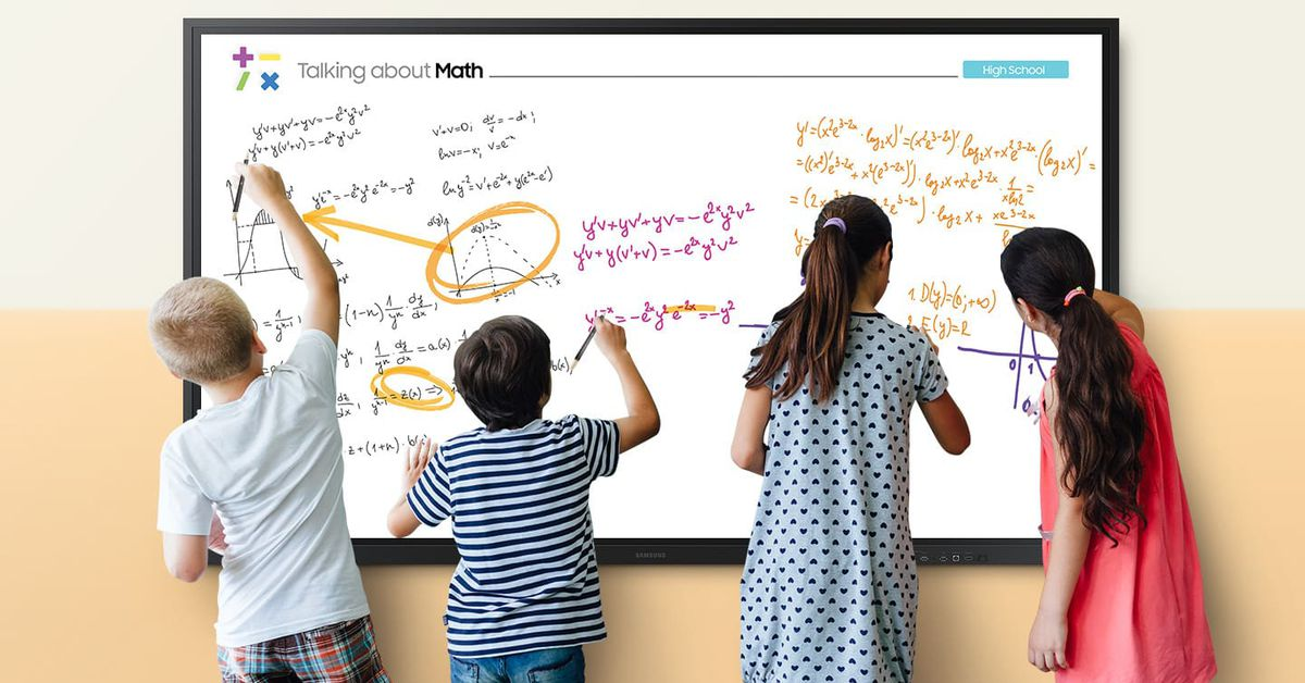 photo of Samsung thinks its new 85-inch Interactive Display is the digital whiteboard for the COVID-19 classroom image