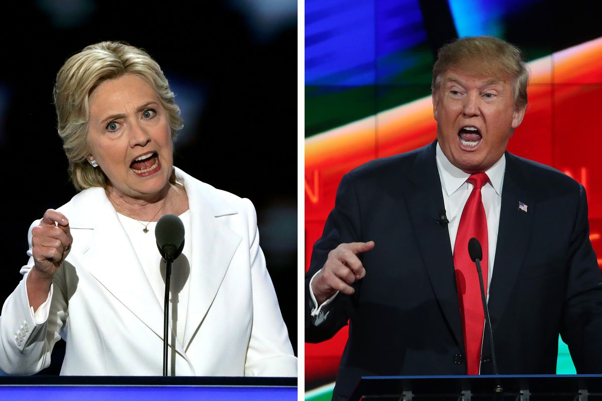 Clinton photo by Alex Wong/Getty Images; Trump photo by Justin Sullivan/Getty Images.