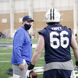 BYU holds its first spring practice on March 1, 2021.