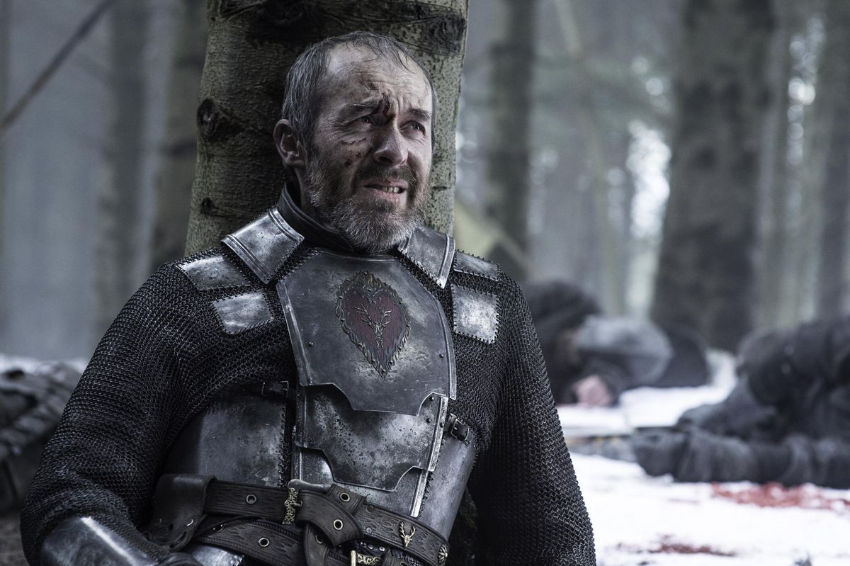 Stannis faces death at the hands of Brienne.