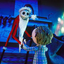 """Jack Skellington takes over for Santa in """"The Nightmare Before Christmas."""""""