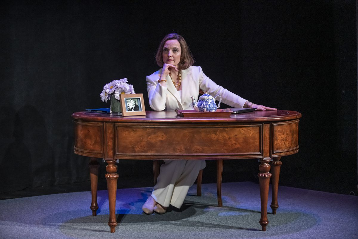 """Orlagh Cassidy stars as Speaker of the House Nancy Pelosi in """"The Adult in the Room,"""" a 75-minute monologue, directed by Heather Arnson and Conor Bagley."""
