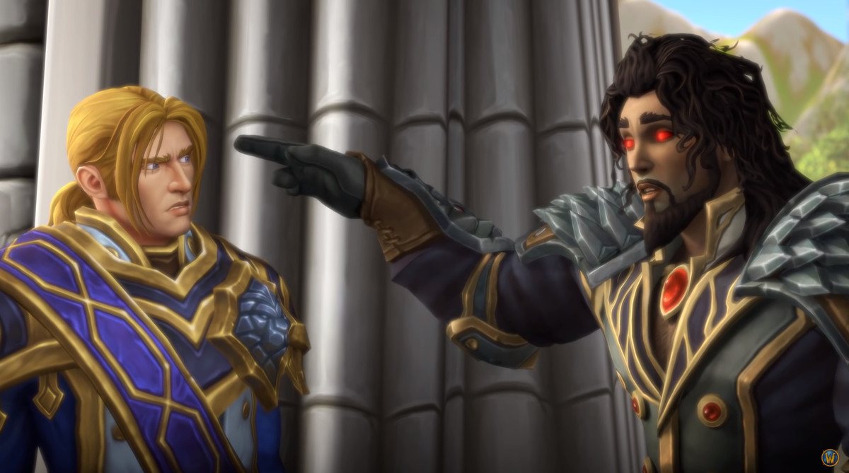 World of Warcraft - Wrathion and Anduin Wrynn talk in Stormwind Keep in the Battle for Azeroth expansion.