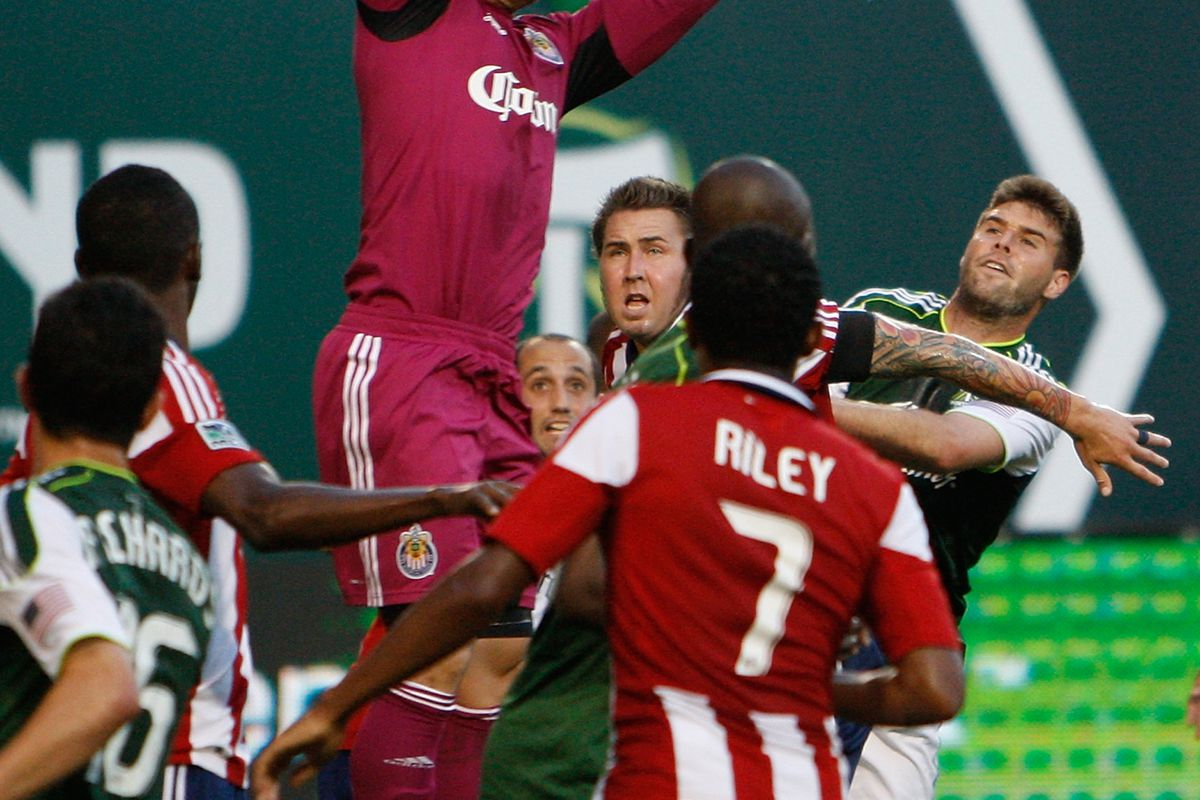 PORTLAND, OR - JULY 28:  Chivas USA is rising ever higher. (Photo by Kevin Casey/Getty Images)