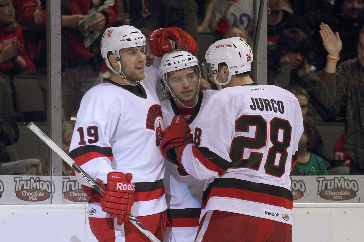 Riley Sheahan, Calle Jarnkrok, and Tomas Jurco... They came to score goals and chew gum, and they're all out of gum.