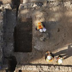 The Church History Department invited the Office of Public Archaeology at Brigham Young University to help in the excavation of Utah County's earliest baptismal font.