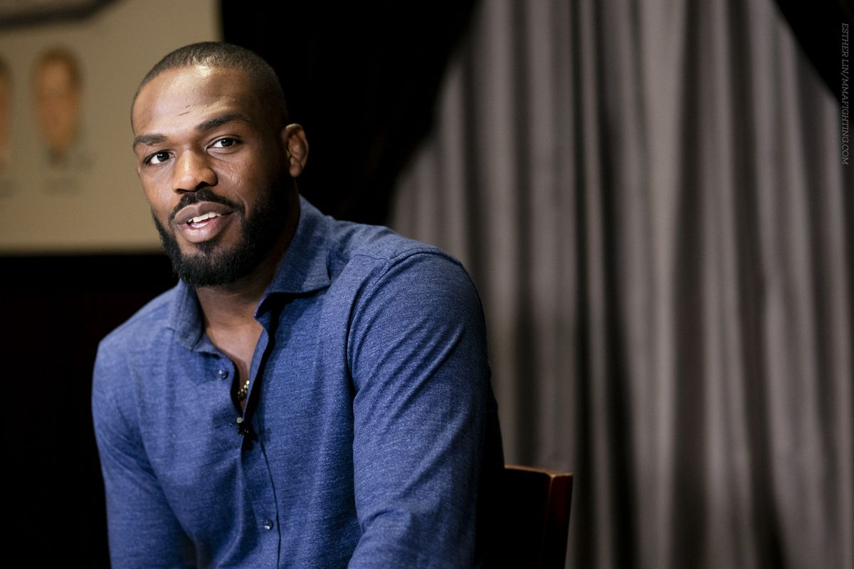 Jon Jones smiling at the UFC 200 Media Lunch Esther Lin, MMA Fighting