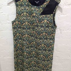 $150 Dress with Leather Detail