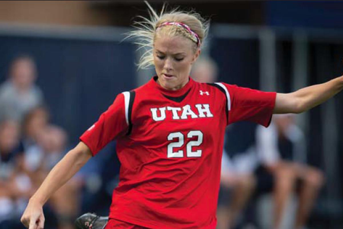 Utah senior midfielder Katie Taylor leads her Utes into weekend dates against the Oregon schools.