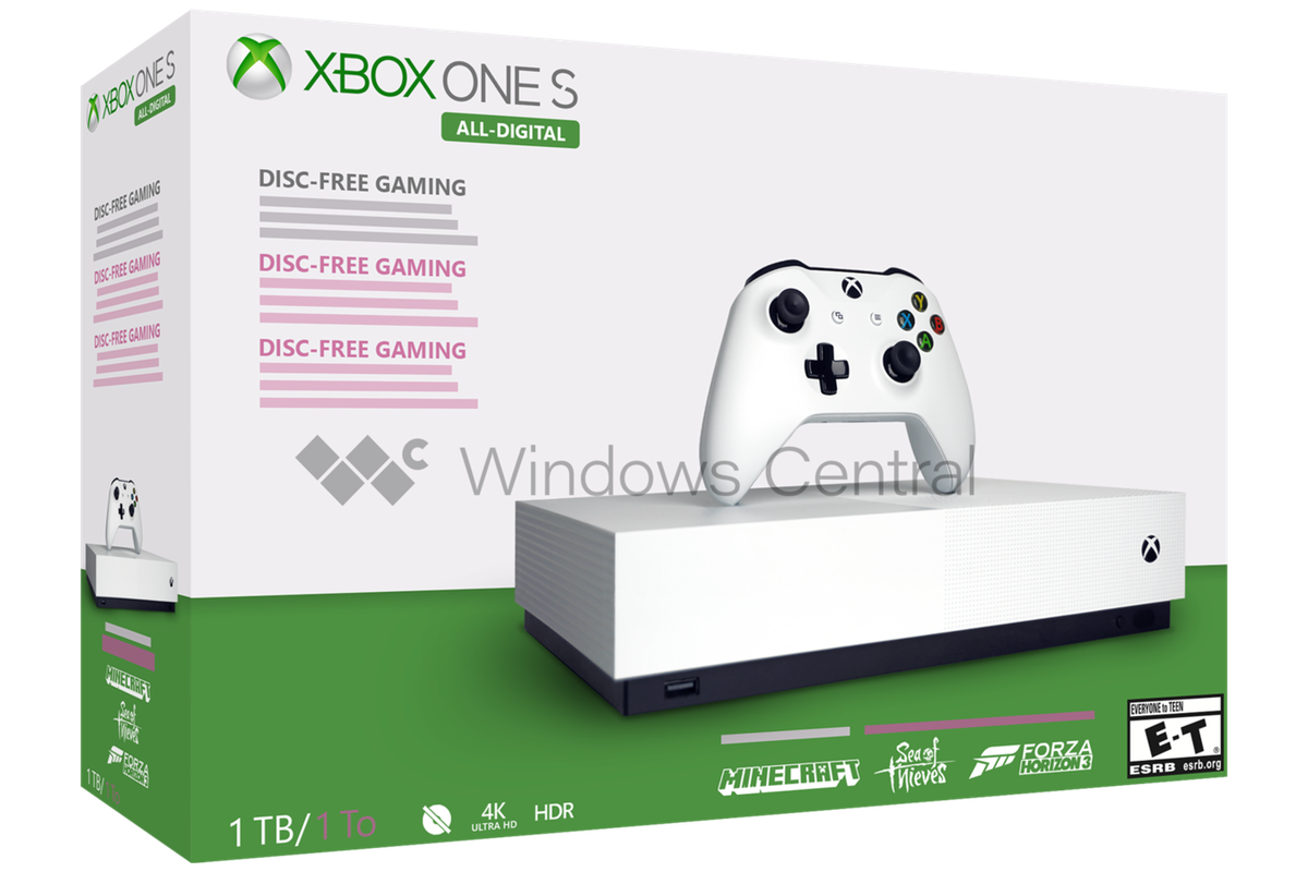 Microsoft's disc-less Xbox One S reportedly launching May 7th - The