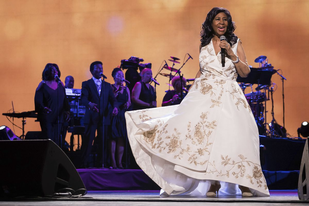 Aretha Franklin performs during the 2017 Tribeca Film Festival, in New York.   Charles Sykes/AP