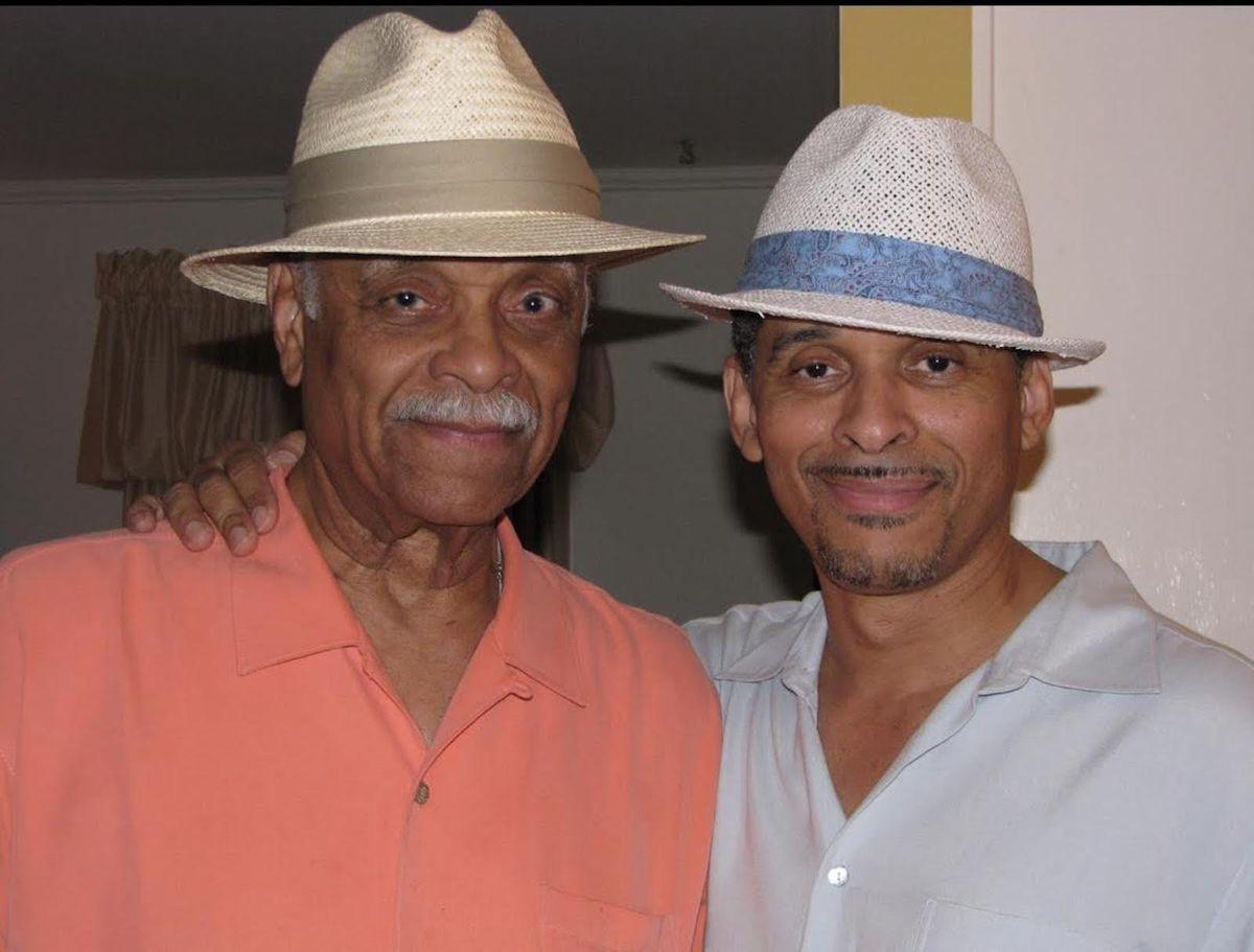 Clarence Burke Sr. (left) and son Keni Burke.