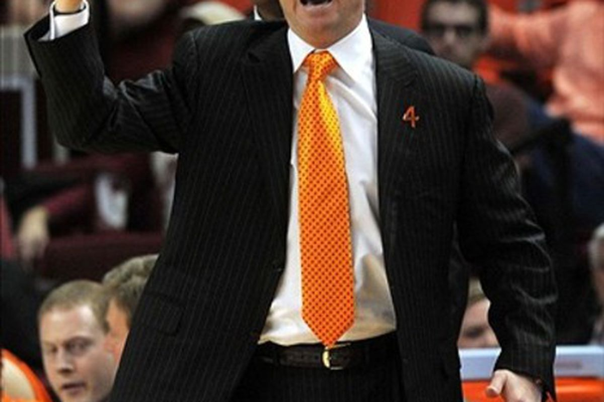 The biggest problem facing Oklahoma State coaches?  Orange ties.