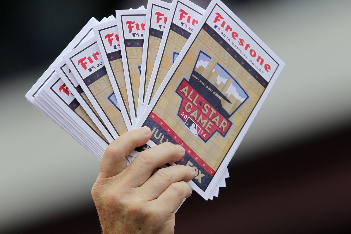 Some 2014 paper All-Star ballots, from the last year they were used.