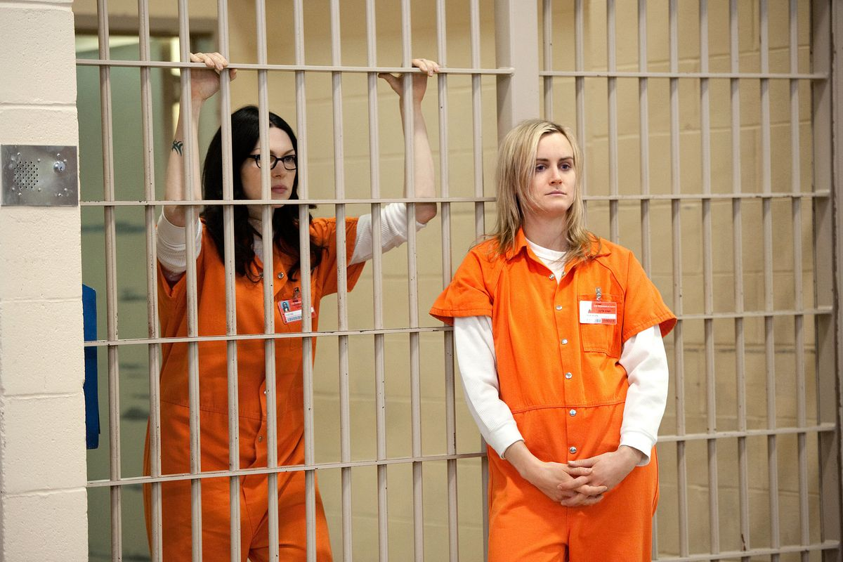Orange Is the New Black, starring Laura Prepon (left) and Taylor Schilling, returns Friday, June 12, 2015.