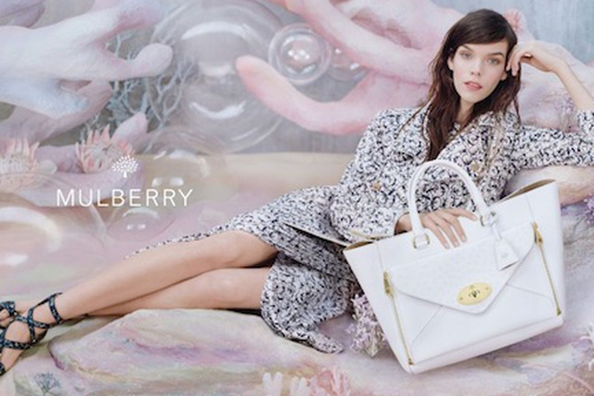 A look from Mulberry's Spring 2013 campaign