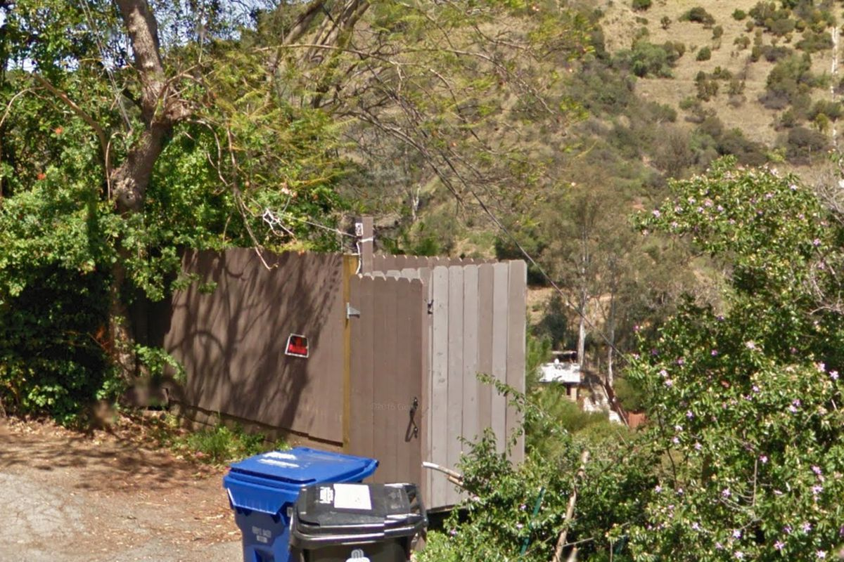 View of fence above Laurel Canyon