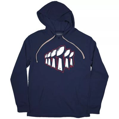 "NewEngland6xChamps HOODIE BreakingT hoodie  1  - ""We're Still Here"" became the Patriots' playoff motto"