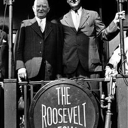 John Nance Garner, left, was FDR's first v.p.. They're seen before the 1932 election.