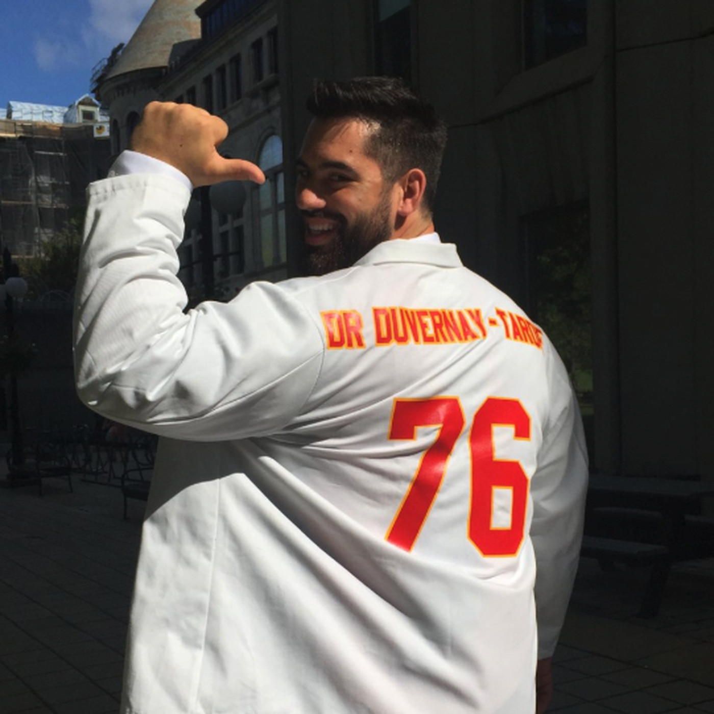 52a43adf NFL reportedly rejects Laurent Duvernay-Tardif's 'M.D.' jersey ...