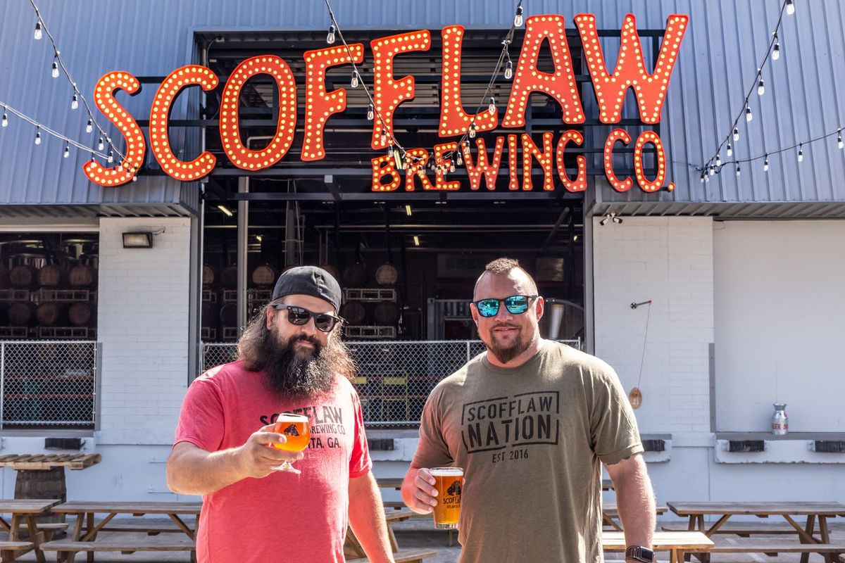 Scofflaw Brewing owners Matt Shirah and Travis Herman