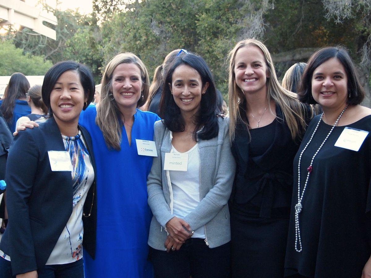 Panelists Amy Chang,Rebecca Lynn, Mariam Naficy, Diana Williams, and Zenobia Moochhala