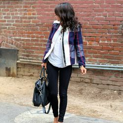 "Ashley of <a href=""http://www.pursuitofshoes.com""target=""_blank"">Pursuit of Shoes</a> is wearing a <a href=""http://www.target.com/p/merona-reg-women-s-plaid-blazer-navy/-/A-14594163#prodSlot=medium_1_16&term=plaid+jacket?ref=tgt_adv_xasd0003&afid=73861&c"