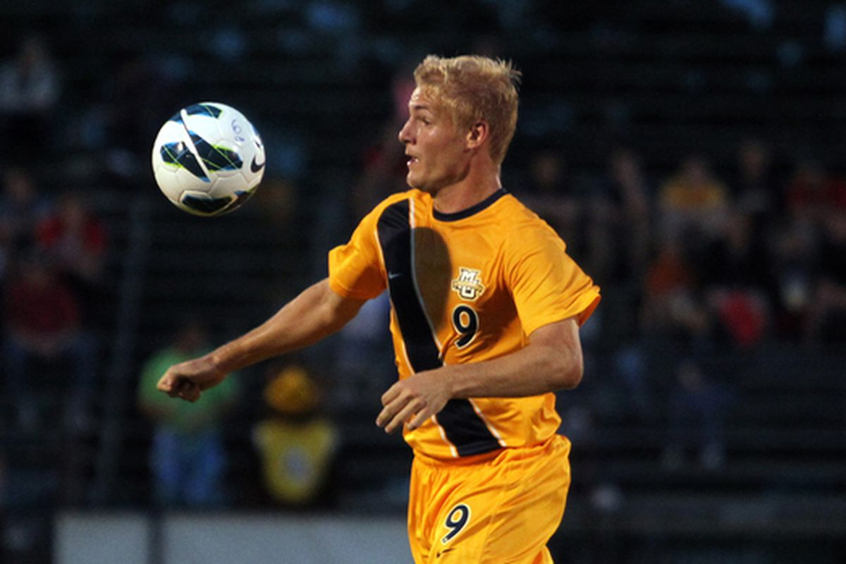 Adam Lysak (minus purple cleats) and the Golden Eagles face a stiff test in league play.