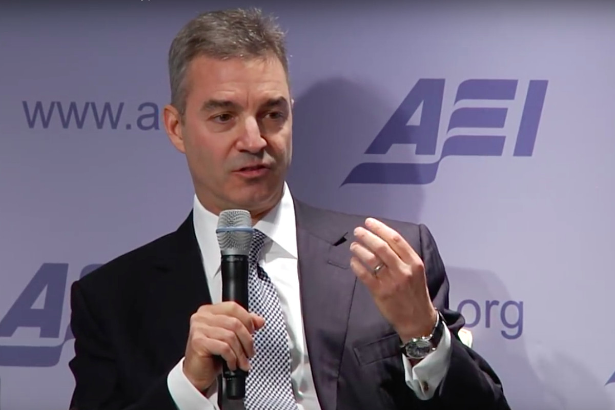 A screenshot taken from an American Enterprise Institute event published in 2014.