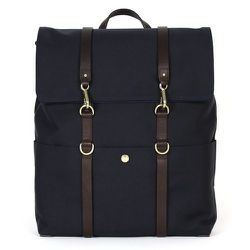 """<strong>Mismo</strong> Backpack in Dark Blue/Dark Brown, <a href=""""http://carsonstreetclothiers.com/accessories/bags-luggage/backpack-2609.html"""">$565</a> at Carson Street Clothiers"""
